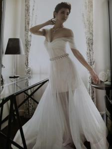Chris Howang in Wedding dress by KLAR LOV - WE Mag