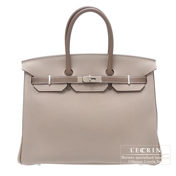 Hermes Birkin Bag 35 Bi-Color Mouse Grey/Taupe Grey Togo Leather Silver Hardware  Price ฿975,011